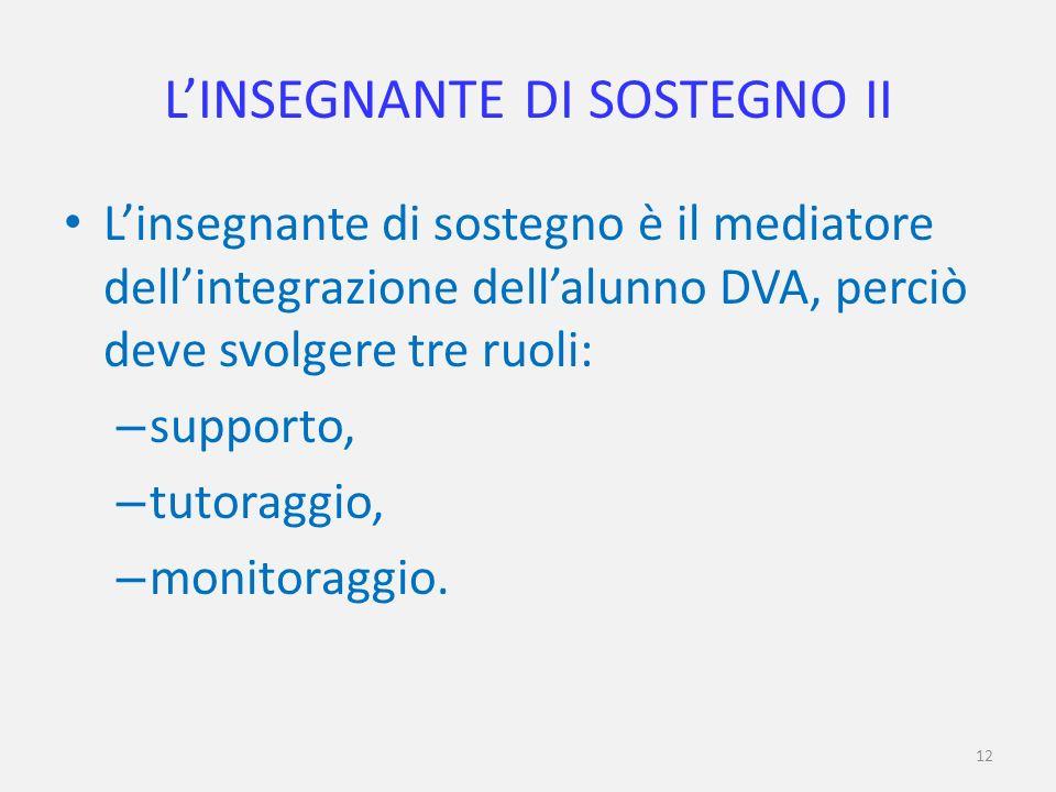 L'INSEGNANTE DI SOSTEGNO II