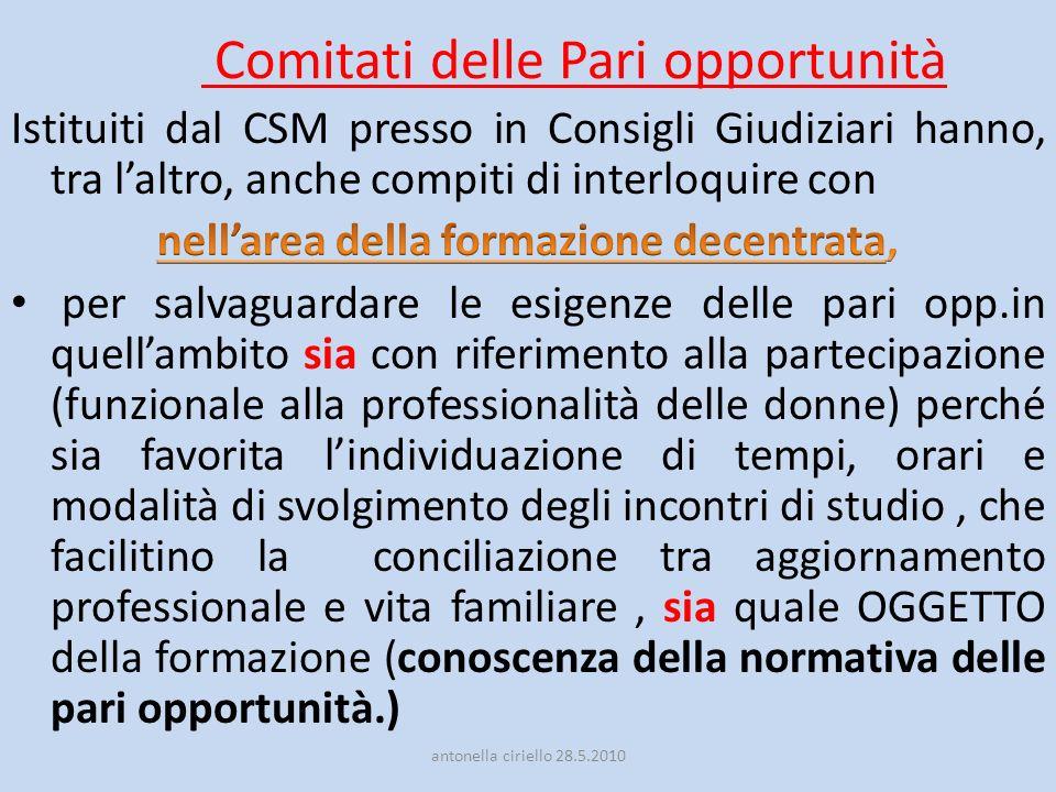 Comitati delle Pari opportunità