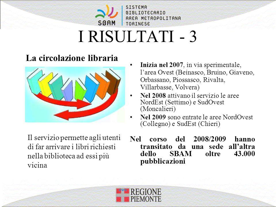 I RISULTATI - 3 La circolazione libraria