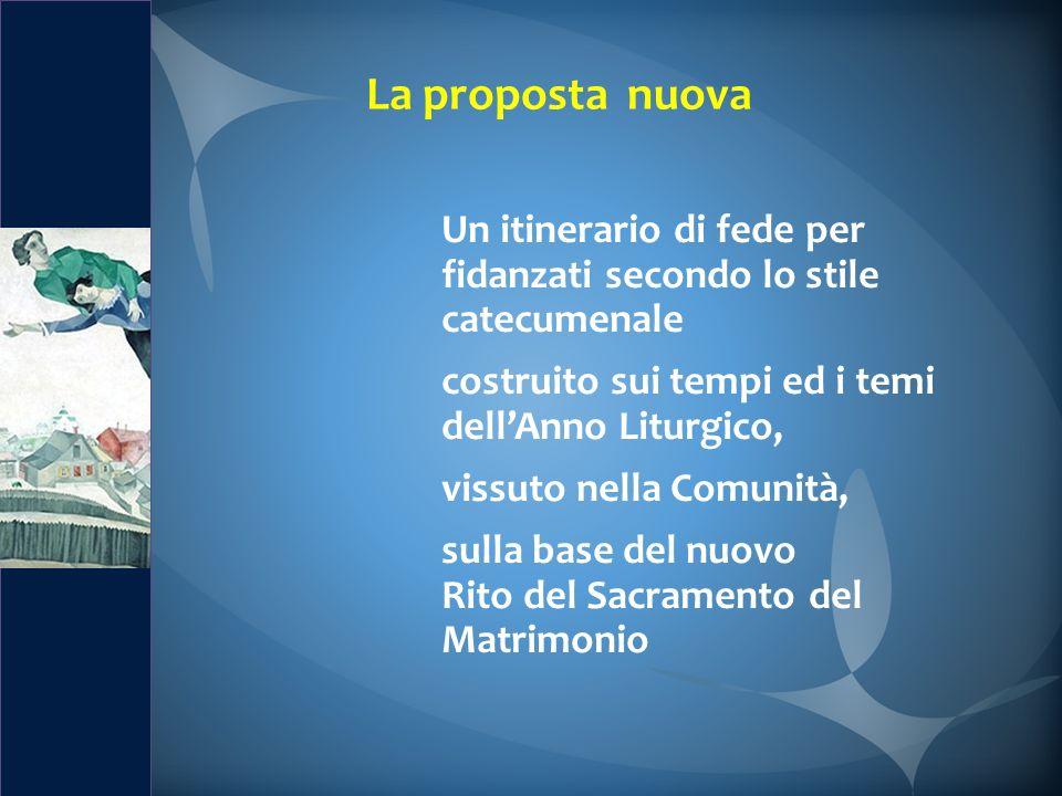 La proposta nuova Un itinerario di fede per fidanzati secondo lo stile catecumenale. costruito sui tempi ed i temi.