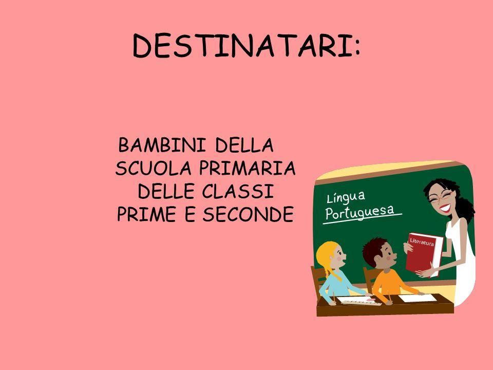 BAMBINI DELLA SCUOLA PRIMARIA DELLE CLASSI PRIME E SECONDE