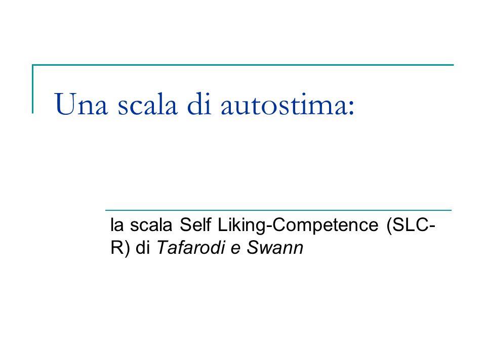 Una scala di autostima: