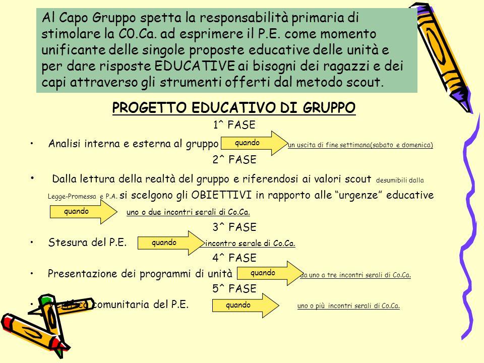 PROGETTO EDUCATIVO DI GRUPPO