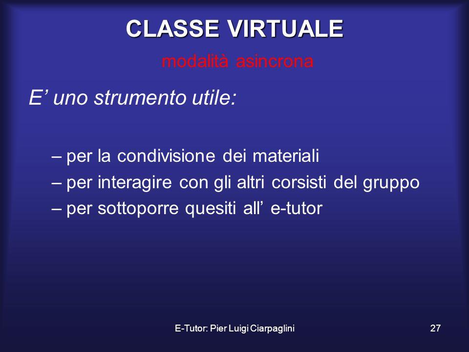 CLASSE VIRTUALE modalità asincrona