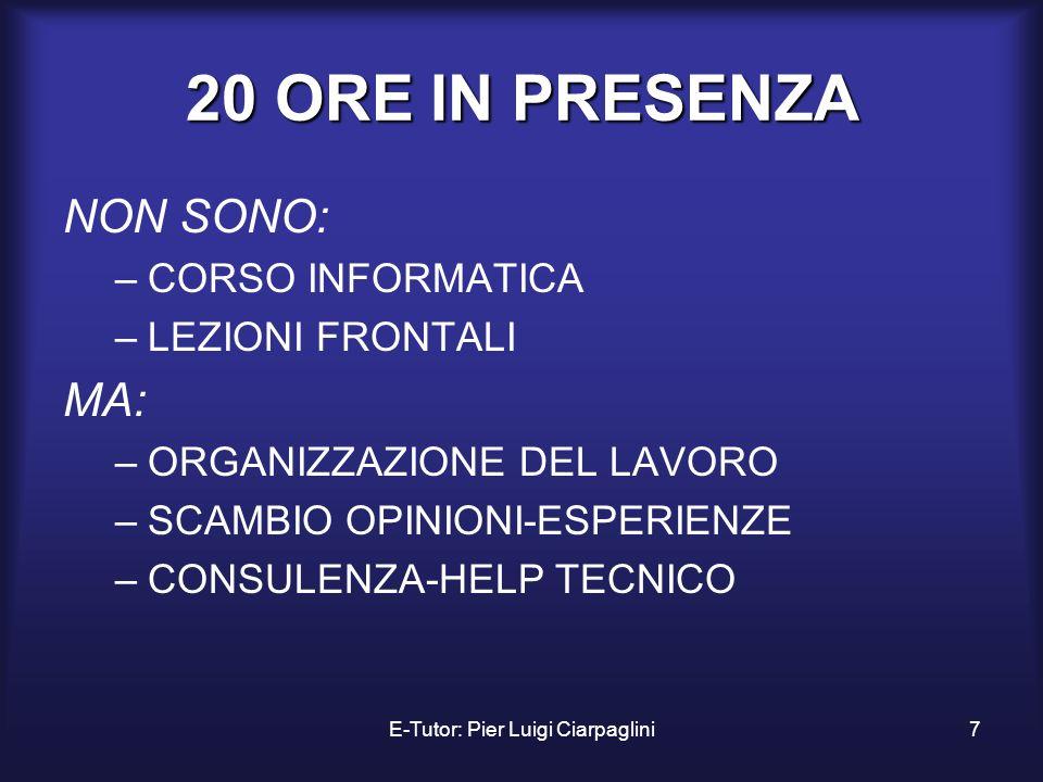 E-Tutor: Pier Luigi Ciarpaglini