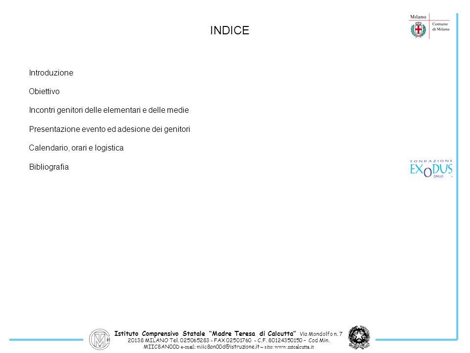 INDICE Introduzione Obiettivo