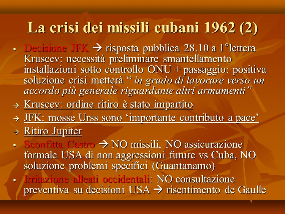 La crisi dei missili cubani 1962 (2)