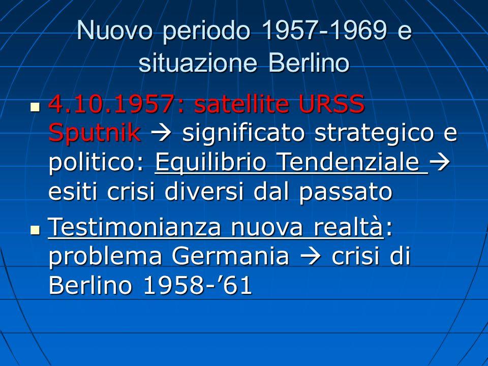 Nuovo periodo 1957-1969 e situazione Berlino