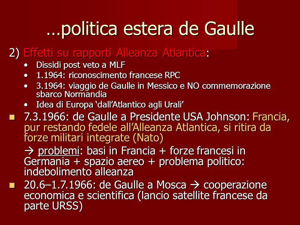 …politica estera de Gaulle
