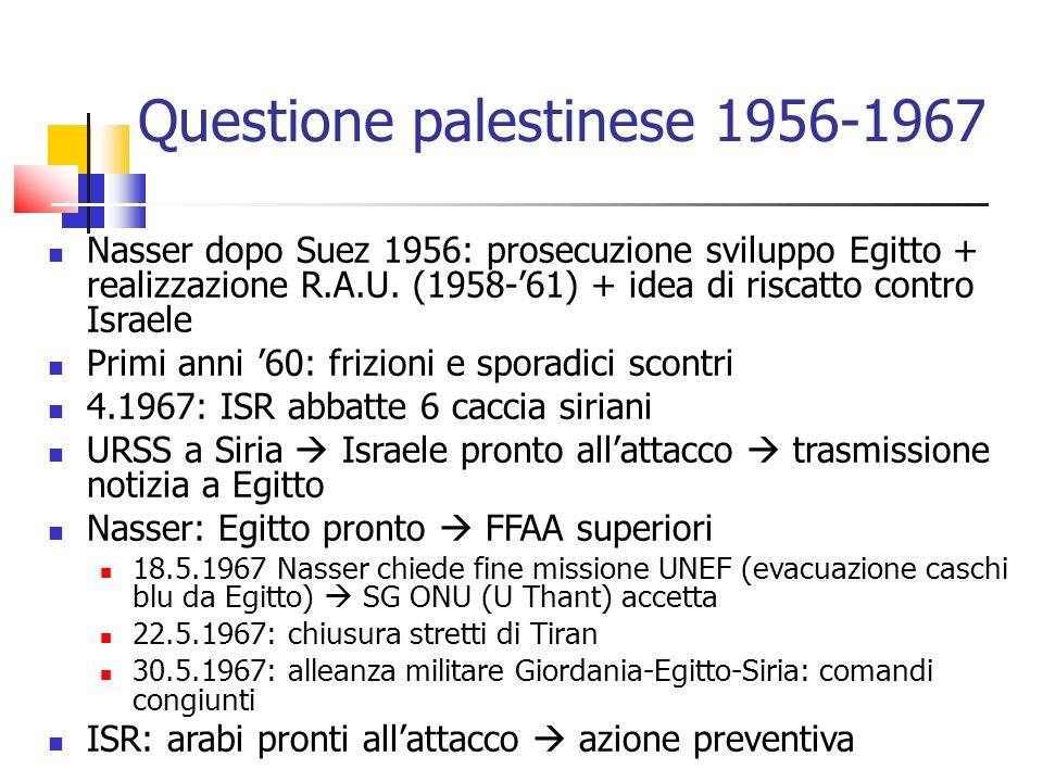 Questione palestinese 1956-1967