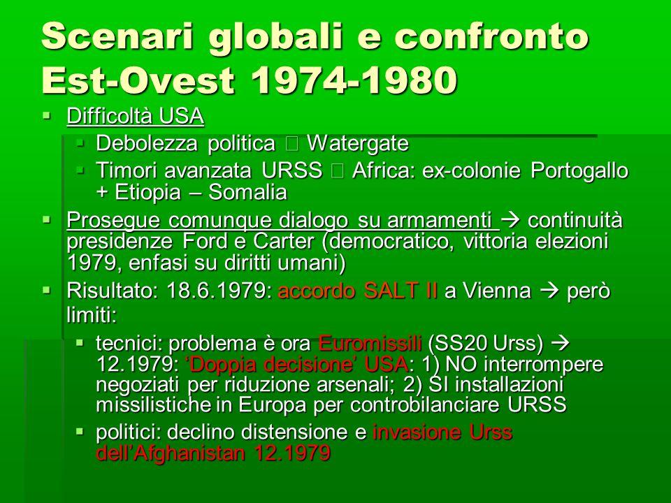 Scenari globali e confronto Est-Ovest 1974-1980