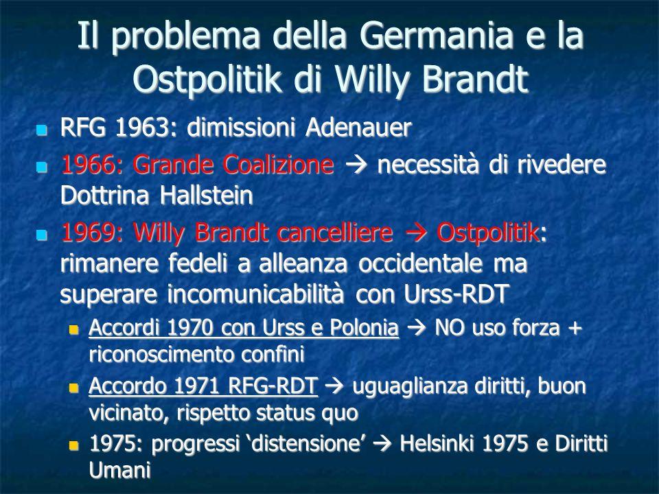 Il problema della Germania e la Ostpolitik di Willy Brandt