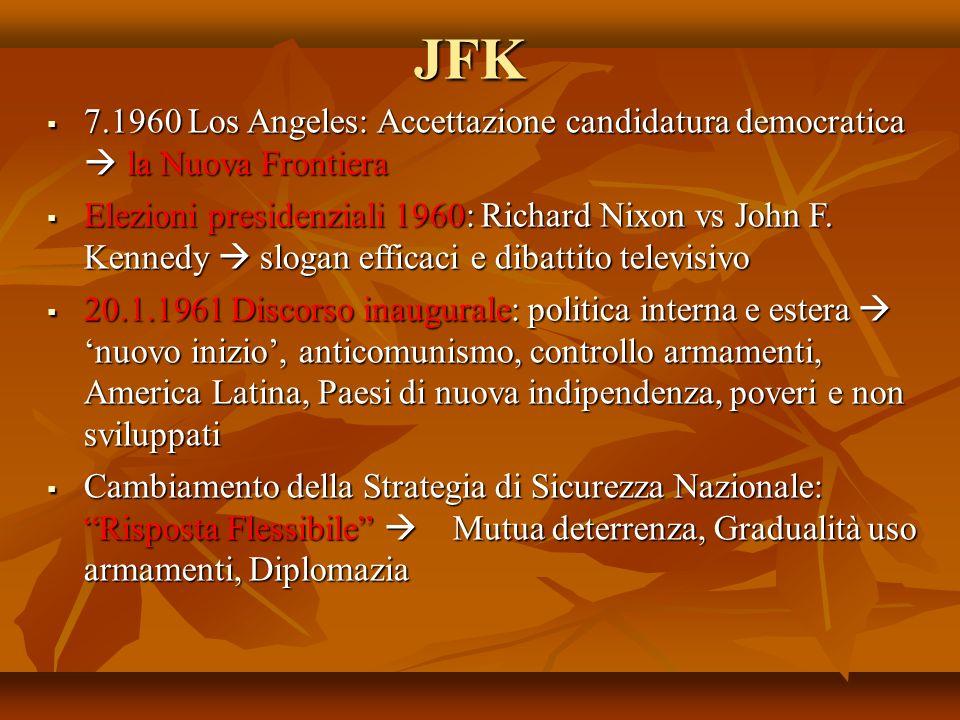 JFK 7.1960 Los Angeles: Accettazione candidatura democratica  la Nuova Frontiera.