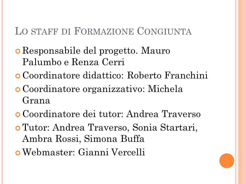 Lo staff di Formazione Congiunta