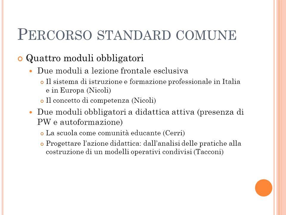 Percorso standard comune
