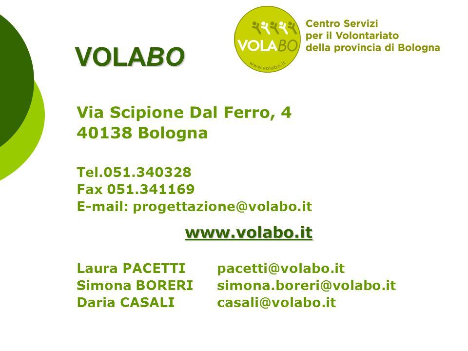 VOLABO Via Scipione Dal Ferro, 4 40138 Bologna www.volabo.it