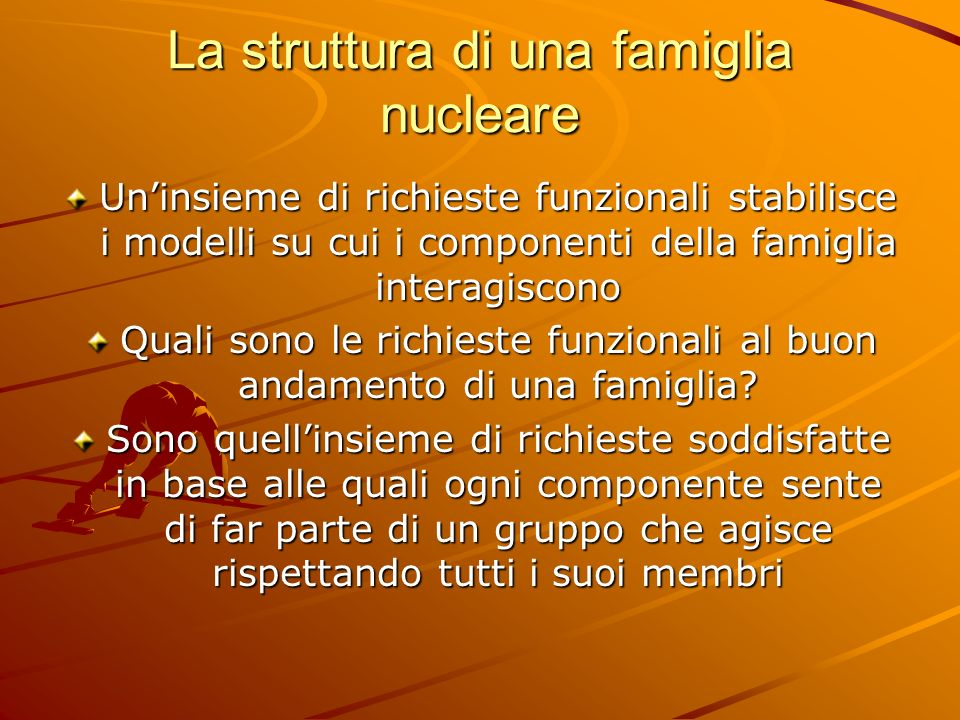 La struttura di una famiglia nucleare