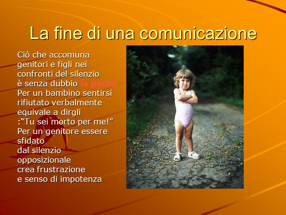 La fine di una comunicazione