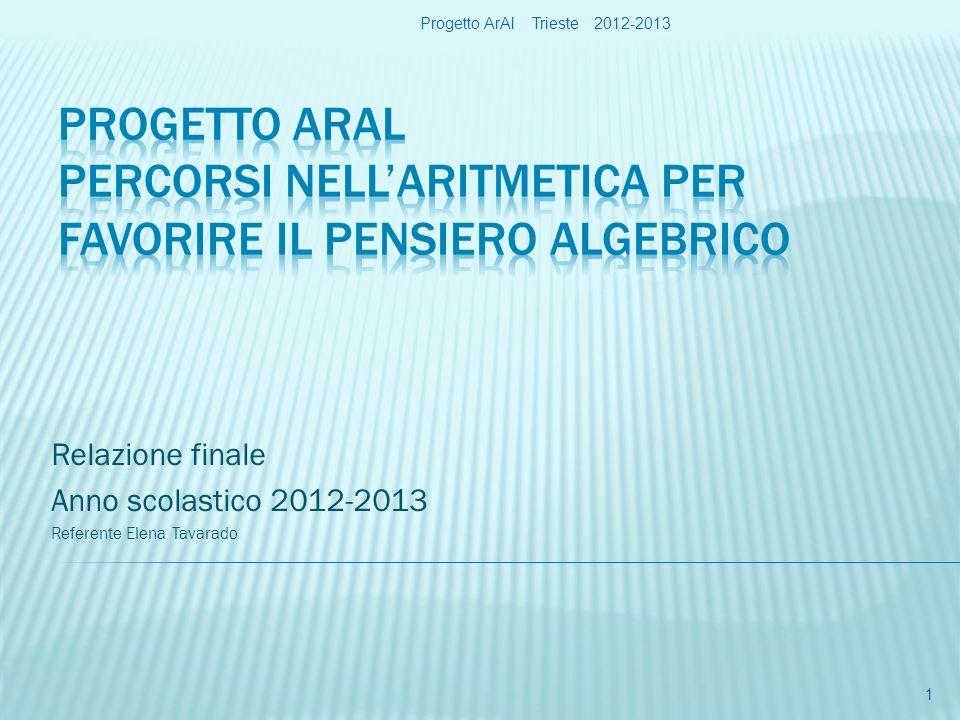 Relazione finale Anno scolastico 2012-2013 Referente Elena Tavarado