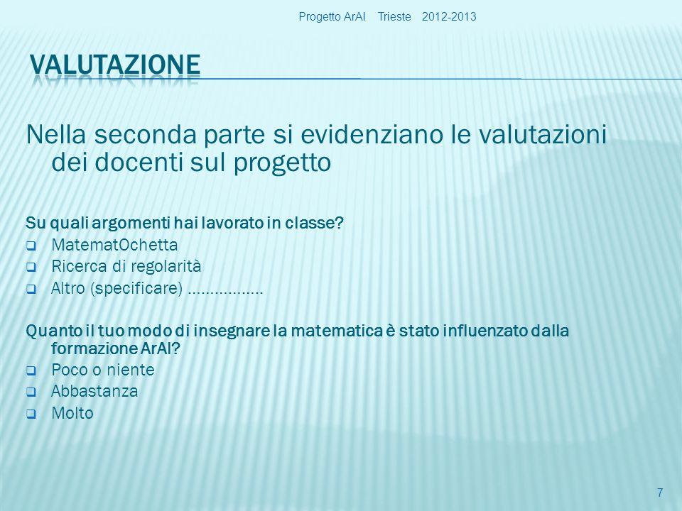 Progetto ArAl Trieste 2012-2013
