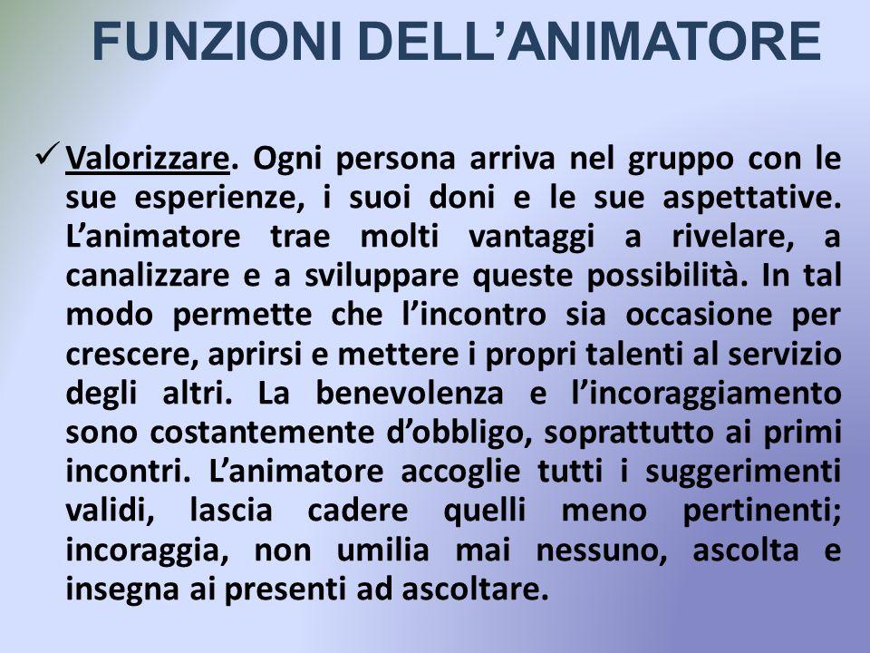 FUNZIONI DELL'ANIMATORE
