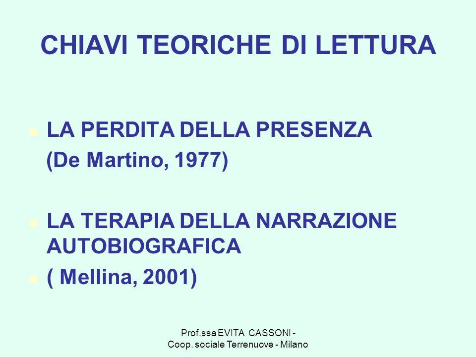 CHIAVI TEORICHE DI LETTURA