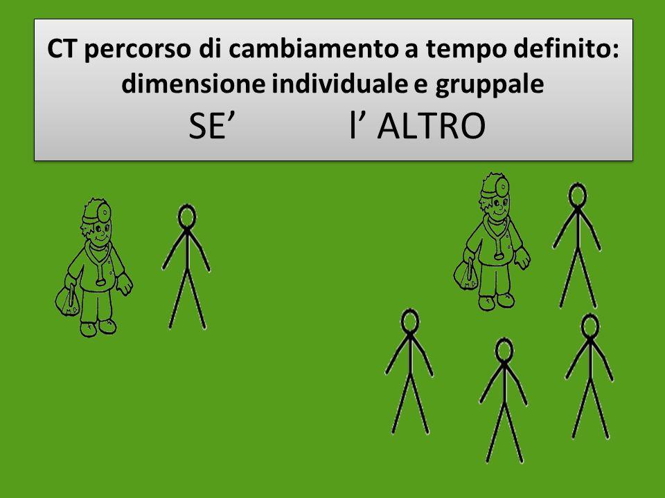 CT percorso di cambiamento a tempo definito: dimensione individuale e gruppale SE' l' ALTRO