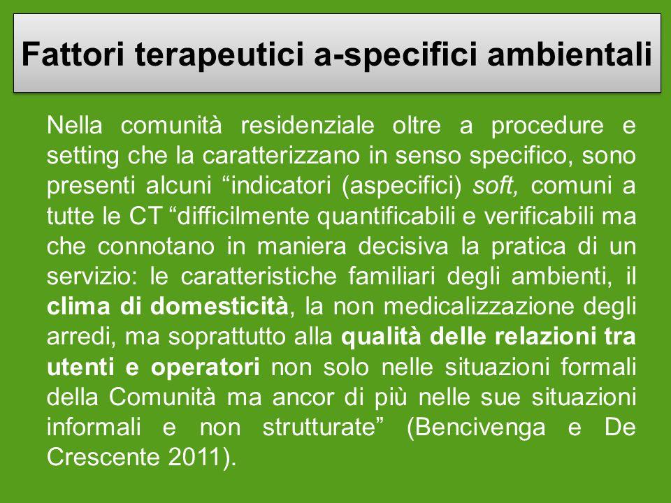 Fattori terapeutici a-specifici ambientali