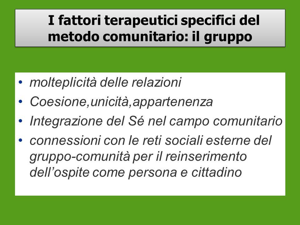 I fattori terapeutici specifici del metodo comunitario: il gruppo