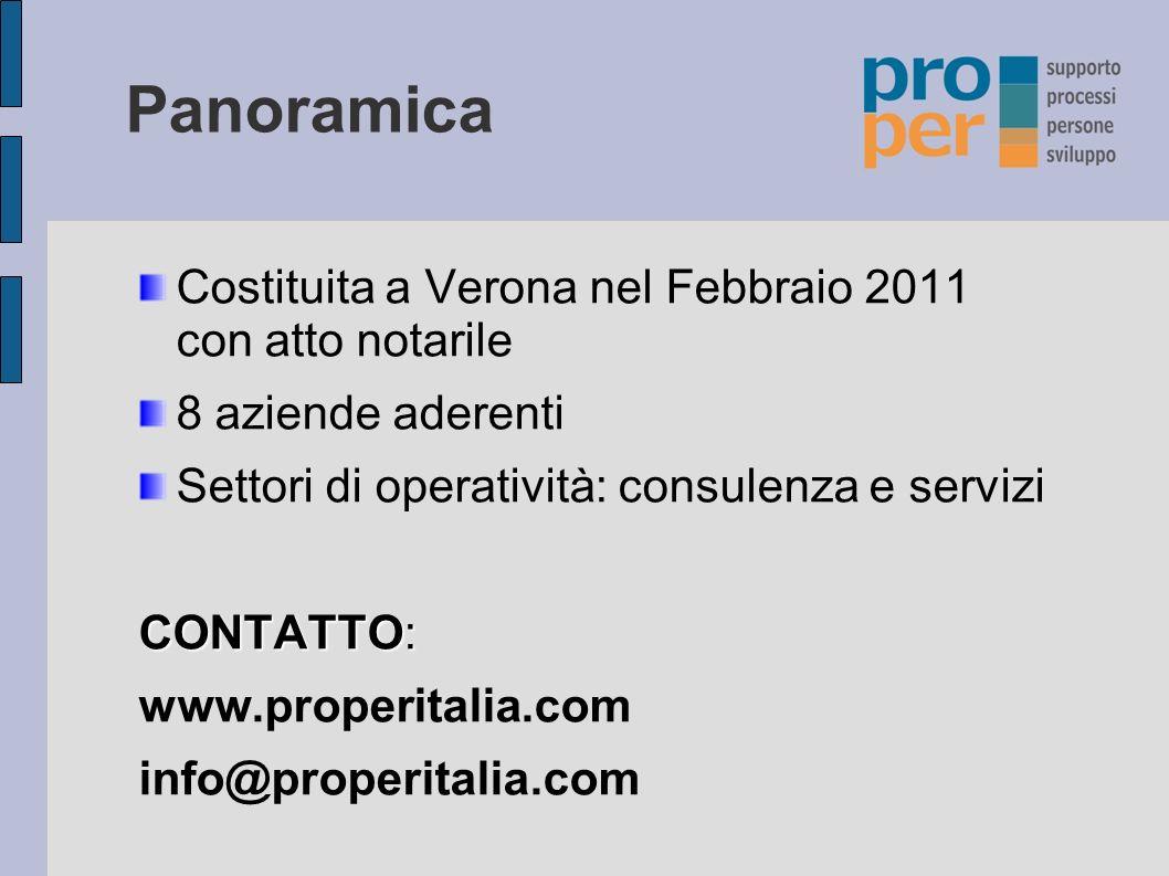 Panoramica Costituita a Verona nel Febbraio 2011 con atto notarile