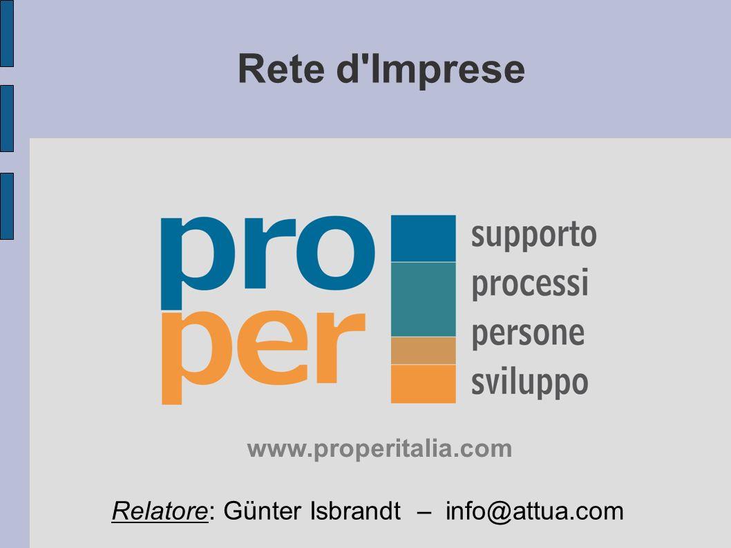 Rete d Imprese www.properitalia.com
