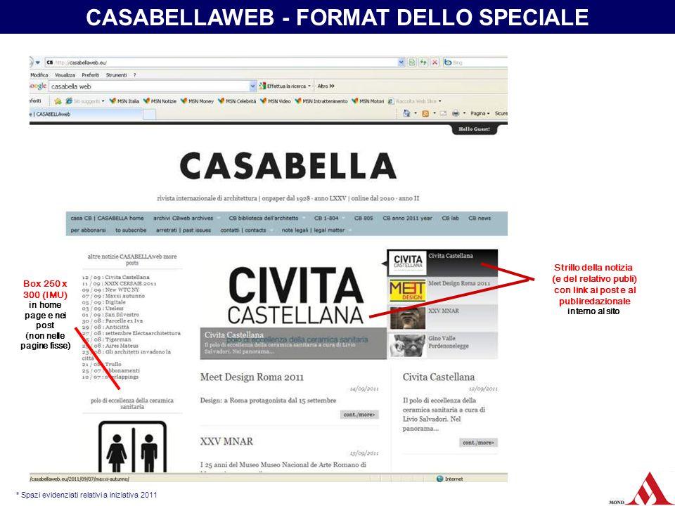 CASABELLAWEB - FORMAT DELLO SPECIALE (non nelle pagine fisse)