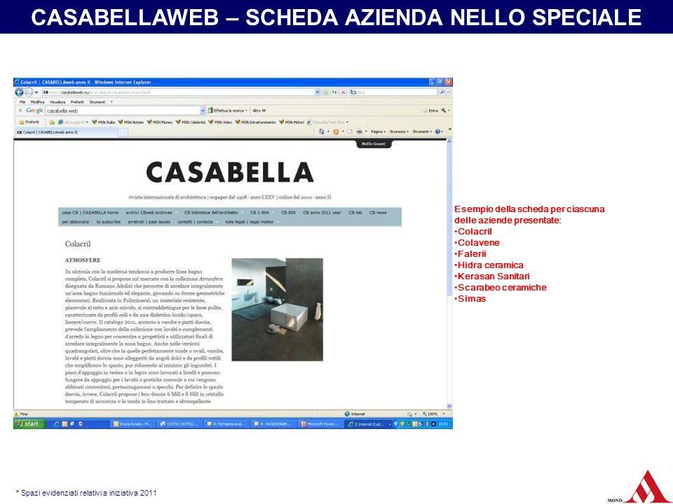 CASABELLAWEB – SCHEDA AZIENDA NELLO SPECIALE