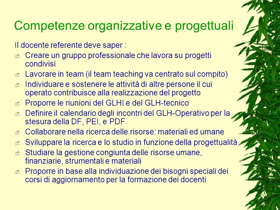 Competenze organizzative e progettuali