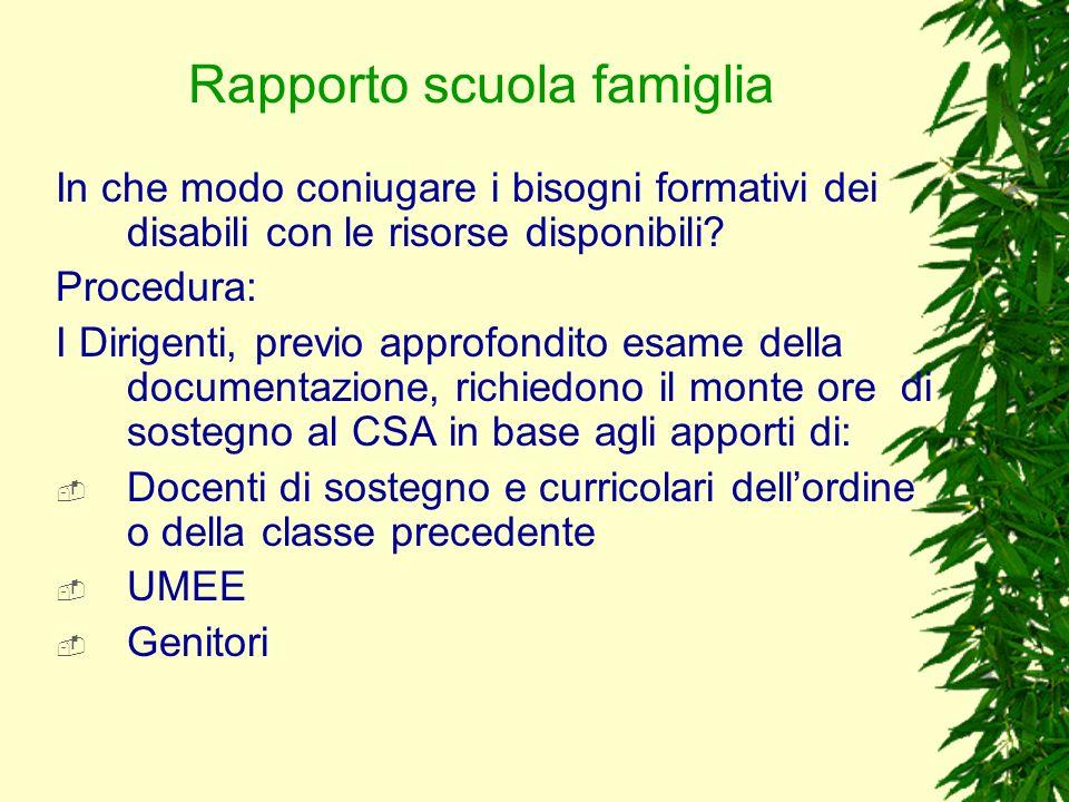 Rapporto scuola famiglia