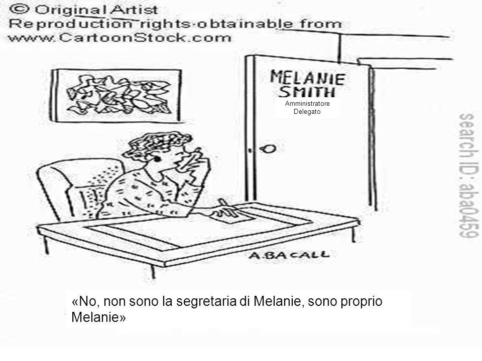 «No, non sono la segretaria di Melanie, sono proprio Melanie»