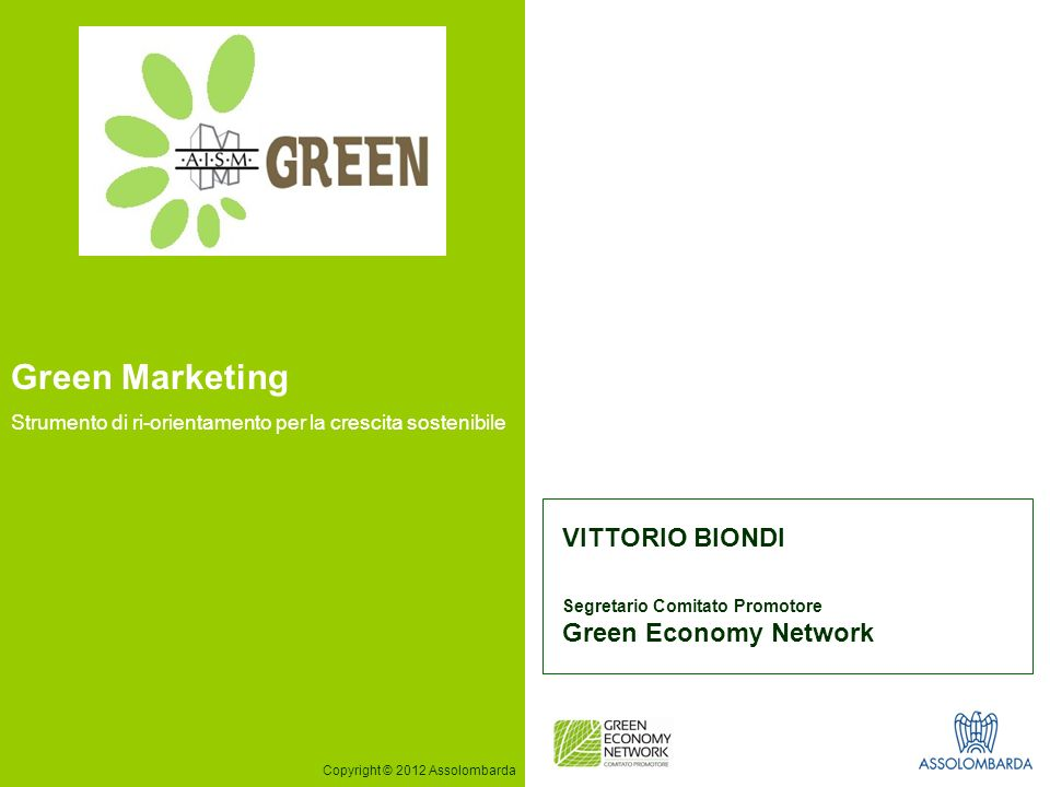 Green Marketing VITTORIO BIONDI