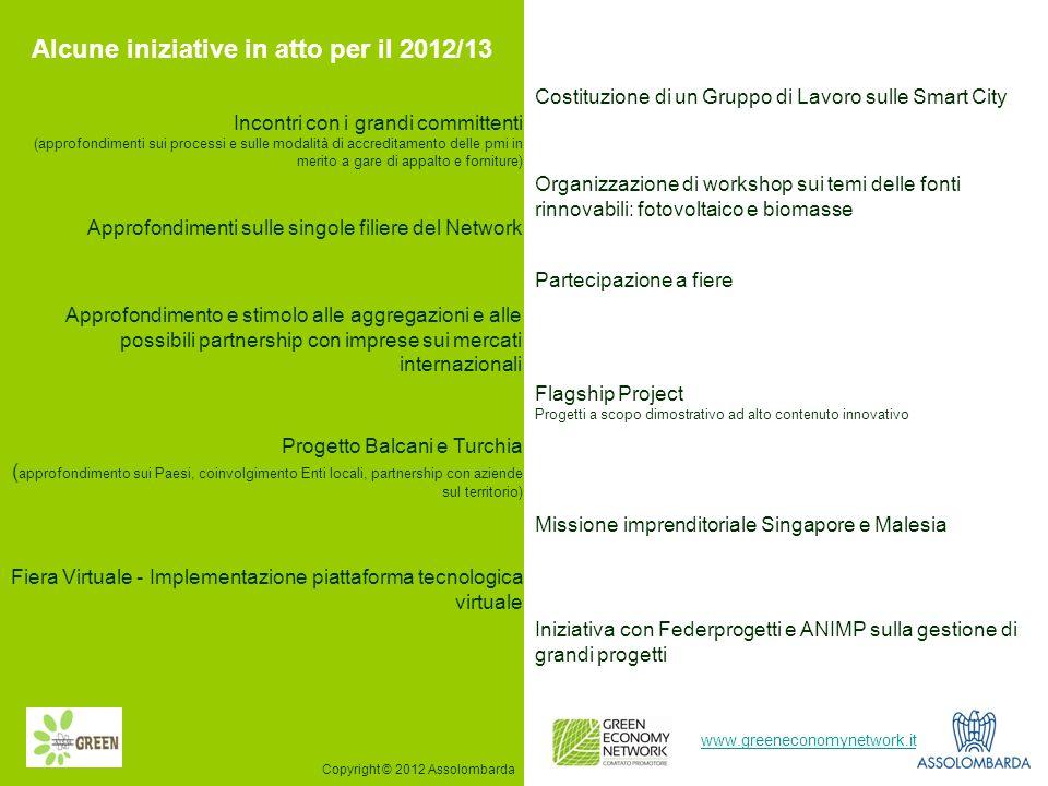 Alcune iniziative in atto per il 2012/13