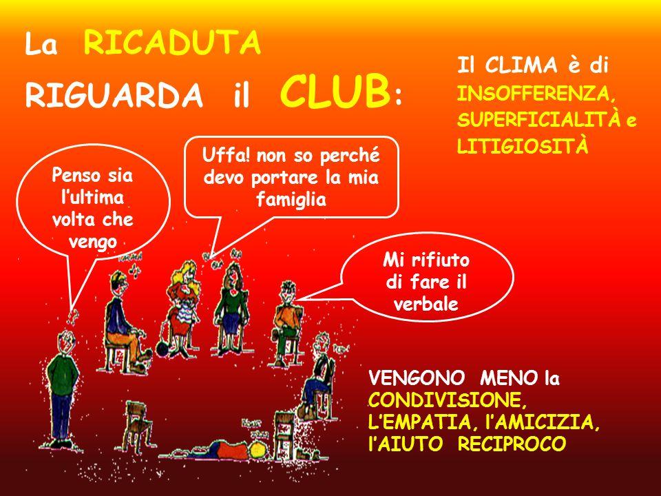 La RICADUTA RIGUARDA il CLUB: