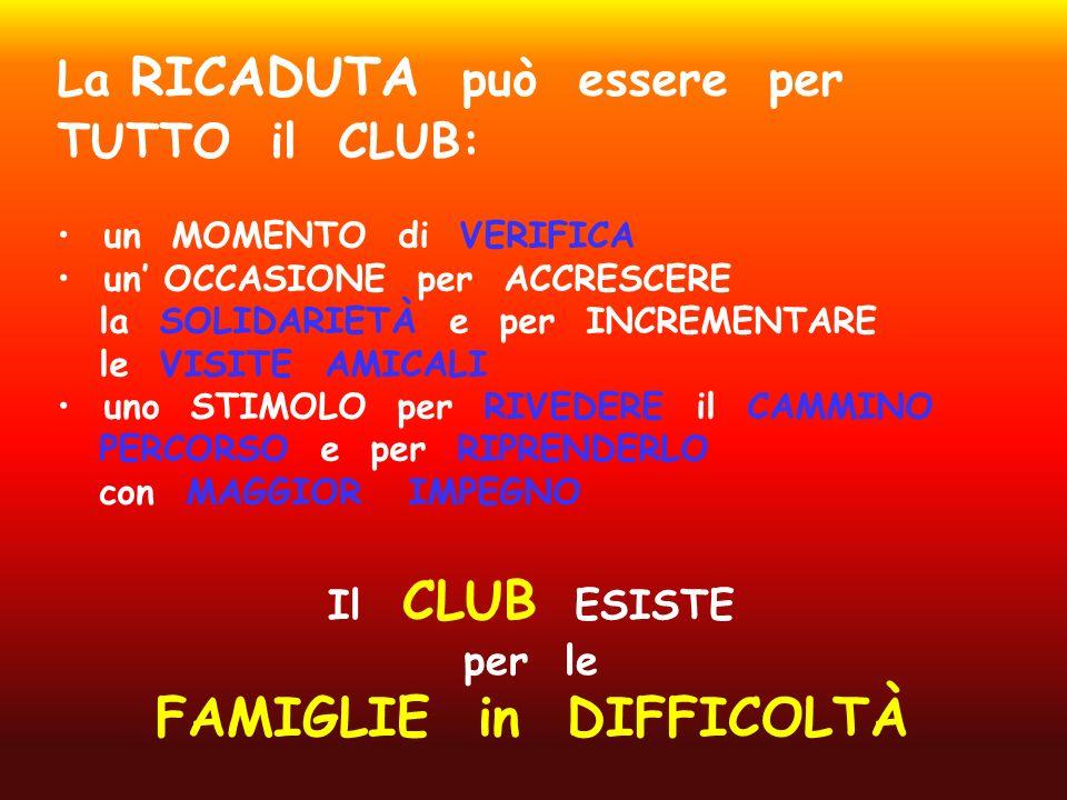 Il CLUB ESISTE per le FAMIGLIE in DIFFICOLTÀ