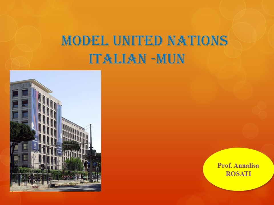 Model United nations Italian -MUN