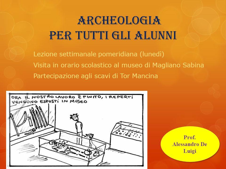 archeologia per tutti gli alunni