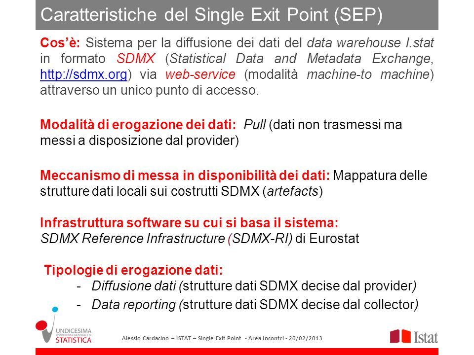 Caratteristiche del Single Exit Point (SEP)