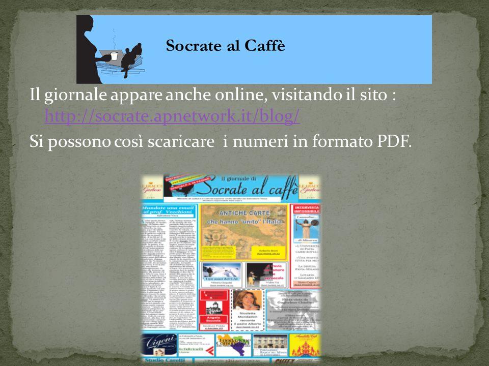 Il giornale appare anche online, visitando il sito : http://socrate