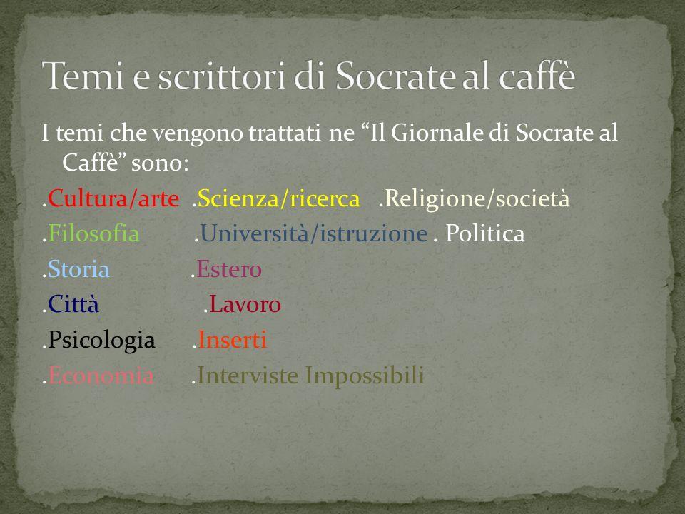 Temi e scrittori di Socrate al caffè