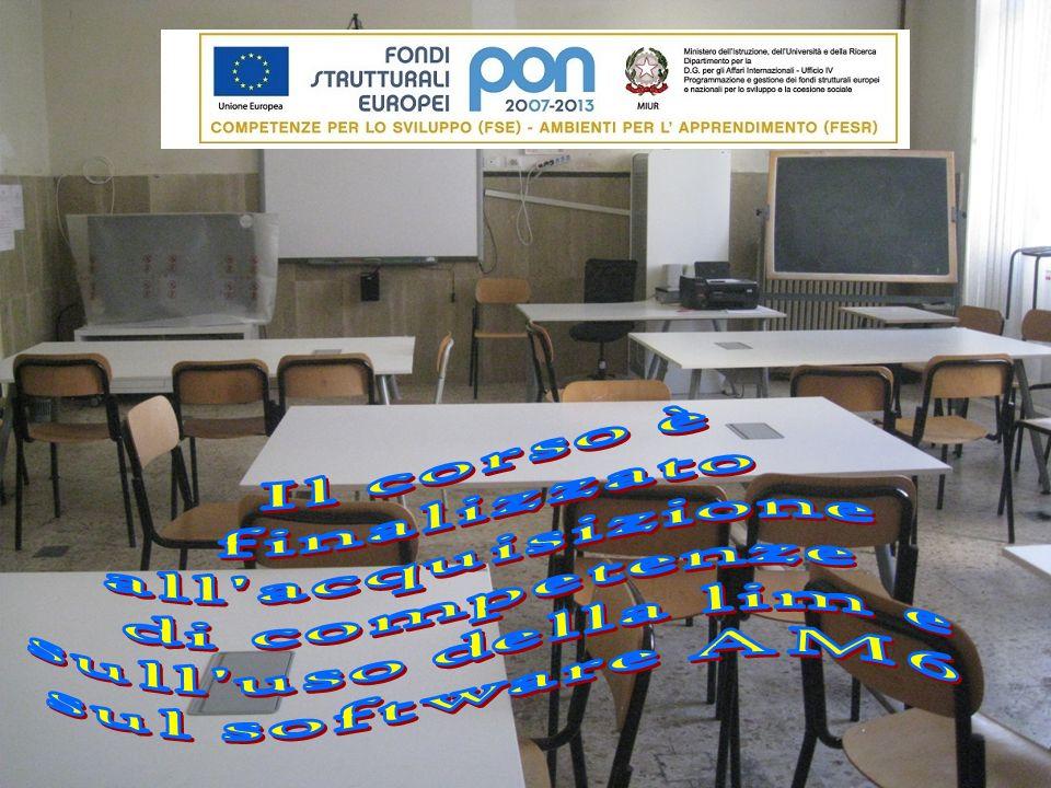 Il corso è finalizzato all acquisizione di competenze sull uso della lim e sul software AM6