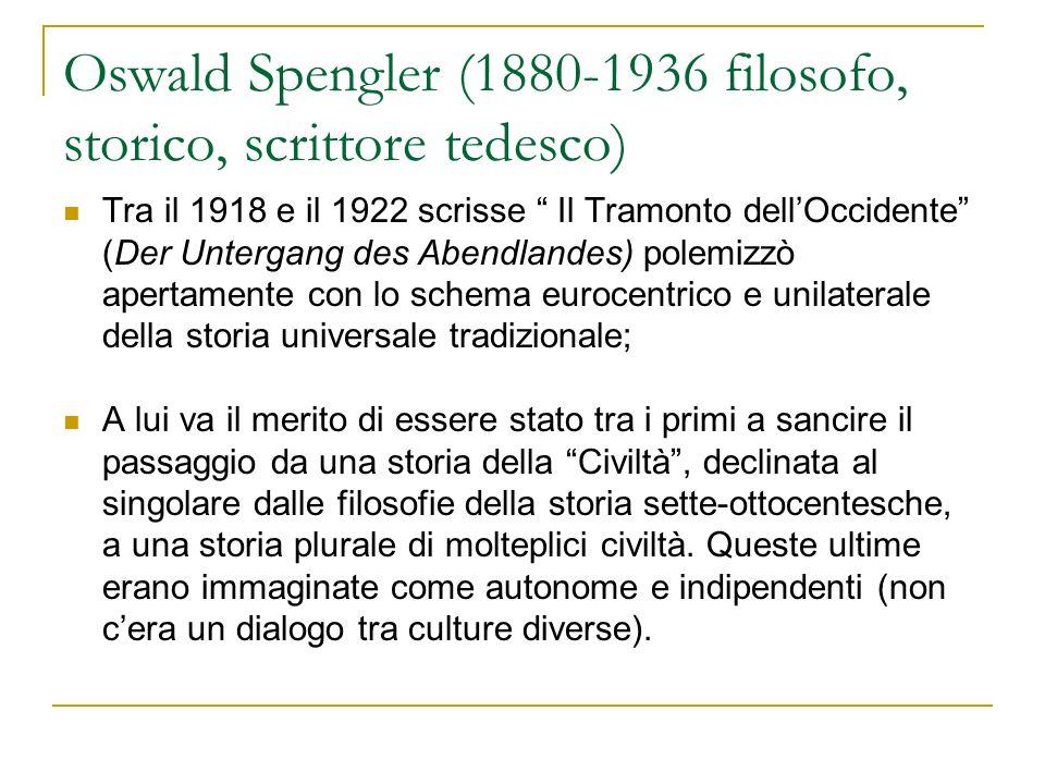 Oswald Spengler (1880-1936 filosofo, storico, scrittore tedesco)