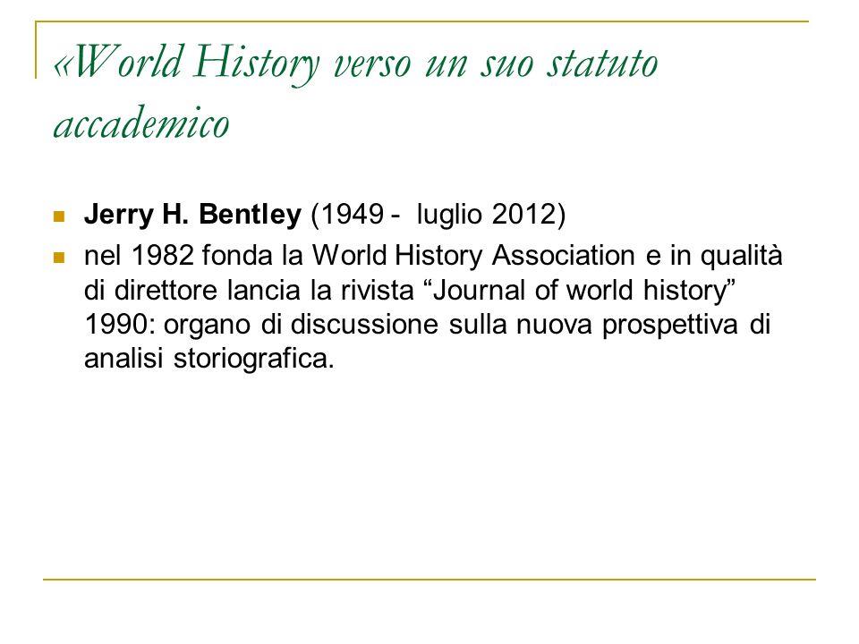 «World History verso un suo statuto accademico