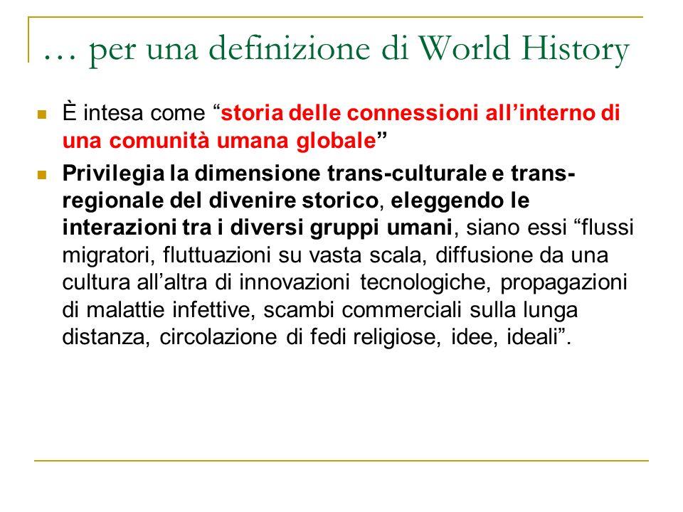 … per una definizione di World History