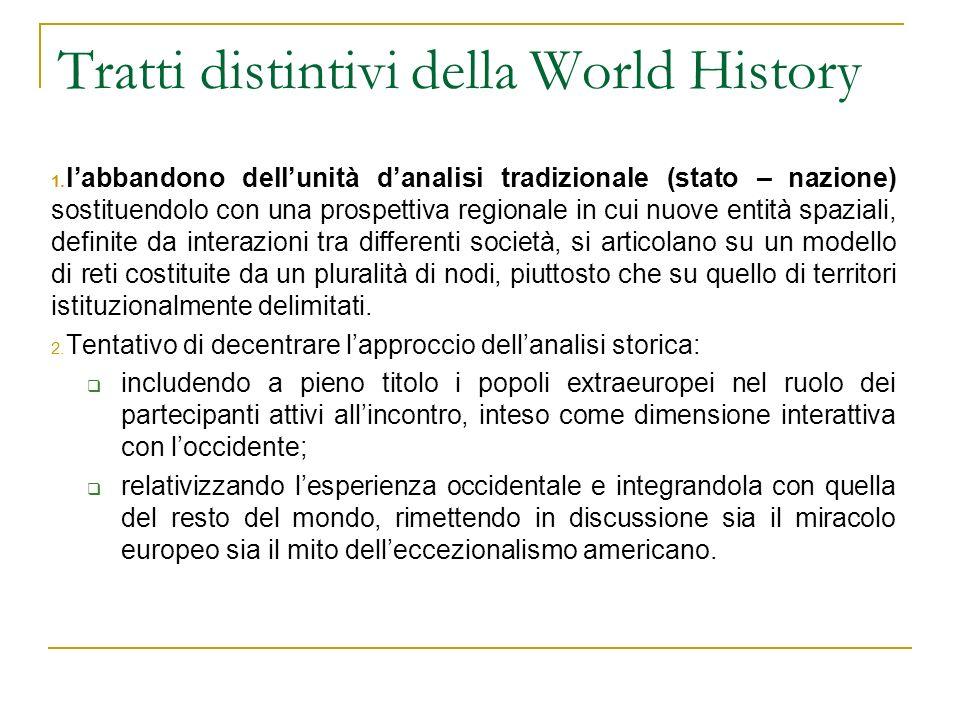 Tratti distintivi della World History